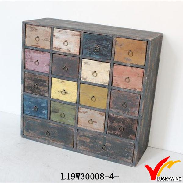Colored small wood drawers living room decorative cabinets Decorative storage cabinets for living room