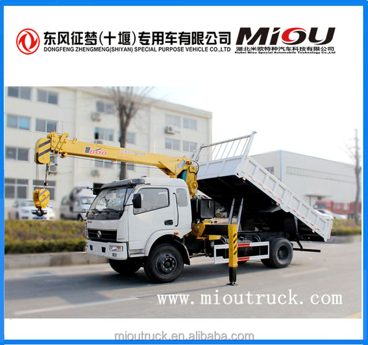 Top Quality 4*2 truck bed hoist crane 8T pickup truck bed hoist for sale