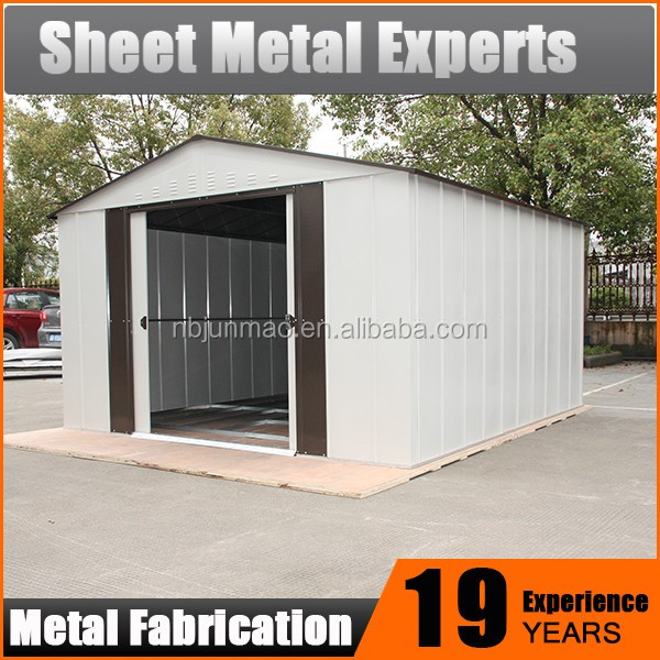 Waterproof Tool Storage Lockable metal shed outdoor garden shelter
