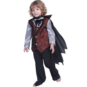 Child Gothic Vampire costume halloween Royal cosplay carnival costumes boys kids fancy costumes suppliers wholesale