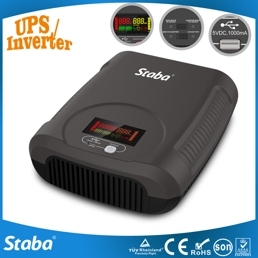 For Home Appliance 300 Watt Power Inverter UPS Solar Contriller Optional