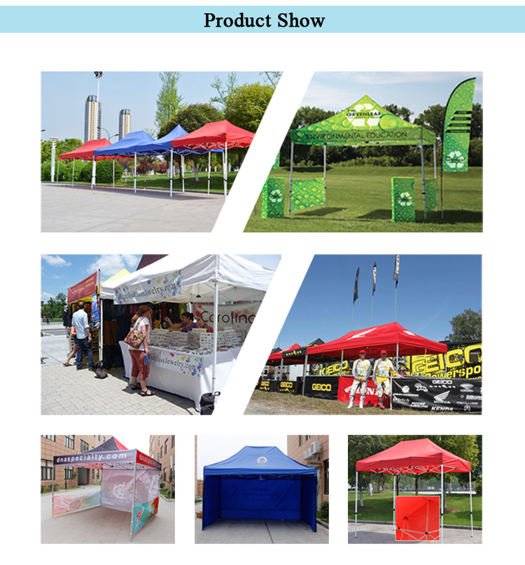 10'x10' Foot Heat Transfer Promo Folding Canopy/ Pop Up Adv Tents for Events/ Trade Show Tent