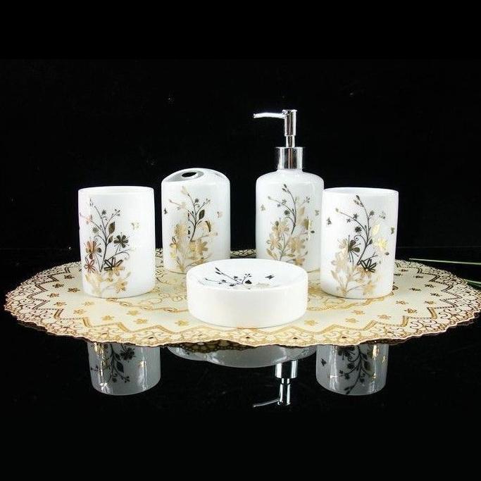 online kaufen gro handel gold bad accessoires aus china gold bad accessoires gro h ndler. Black Bedroom Furniture Sets. Home Design Ideas