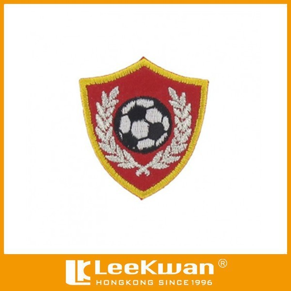 FOOTBALL SHIELD EMBROIDERY PATCH FOR SPORT UNIFORMS CLOTHES