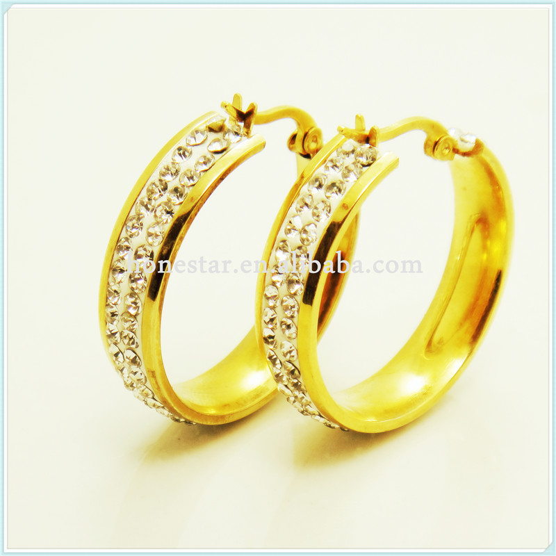 Wholesale White Gems Designs Gold Earring Rings - Buy Designs Gold ...