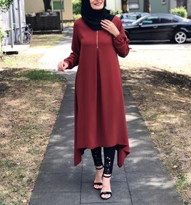 Wholesale New Abaya Designs Dress Dubai Abaya Pleated Muslim Blouse