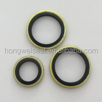 YJM bonded seal of metal washer with elastomeric ring