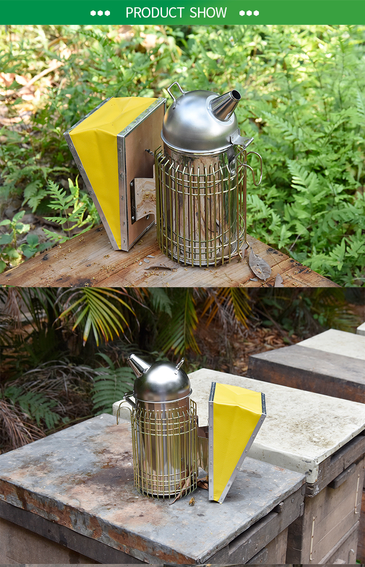 Bee smoker stainless steel beekeeping bee hive smoker