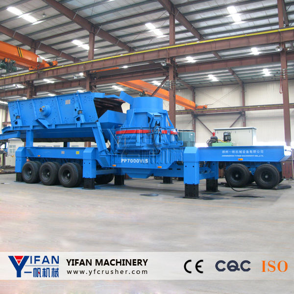 High efficient aggregate mobile plant