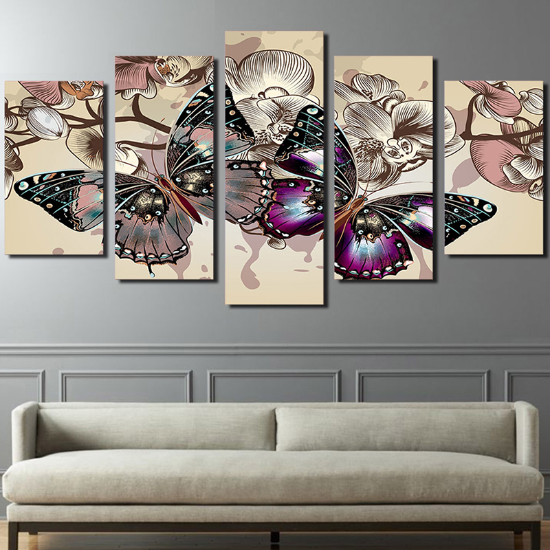Diamond mosaic painting colorful butterfly dmc cross stitch kit handmade painting