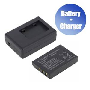 800 mAh 1x Charger Replacement for Kodak EasyShare MD55 BattPit trade; New 2x Digital Camera Battery