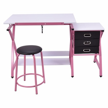 Drafting Table Art U0026 Craft Drawing Desk Art Hobby Folding Adjustable Kids  Learning Desk