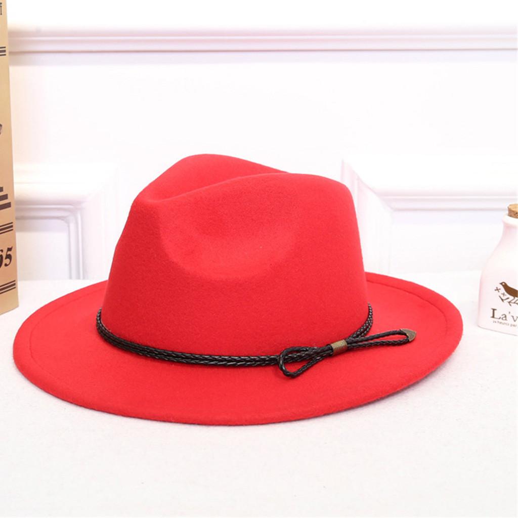 99f751f0206e05 2019 ISHOWTIENDA Vintage Hats For Women Crushable Wool Felt Outback ...