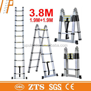 low price 3.8M telescopic retractable step ladder
