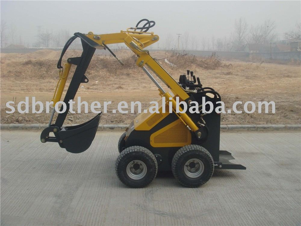 Mini skid steer loader with digger ( CE approved)