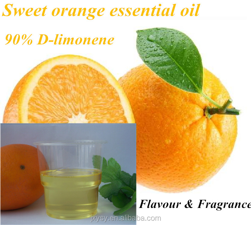 Edible essential oil sweet orange oil With 90% D-limonene for Flavour & Fragrance