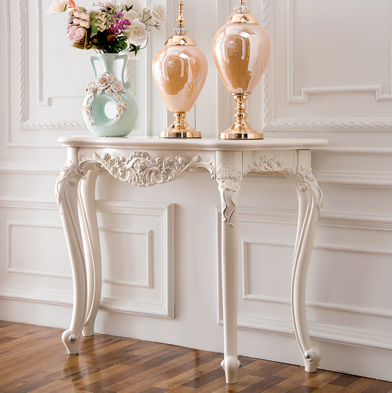 European French Style Rose Carved Antique Inlaid Wood Furniture - European French Style Rose Carved Antique Inlaid Wood Furniture