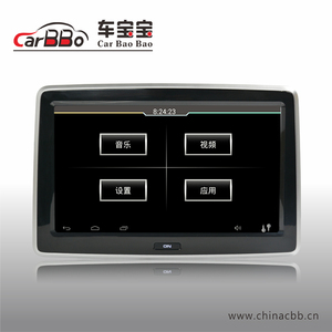 Best 10.1 inch Android Headrest Car universal Monitor with wifi, 3g, AV HDMI IR, without DVD for Ford back seat player factory