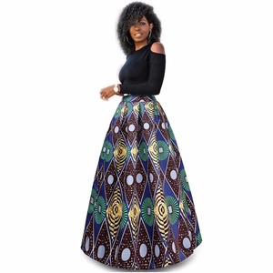 Wholesale fashionable african dashiki dresses clothing 2 pieces top and long skirt set print african kitenge dresses design