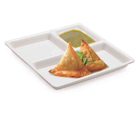 3 Compartment Bagasse Pulp Plate Disposable Eco Friendly Tray for Party Catering Restaurant