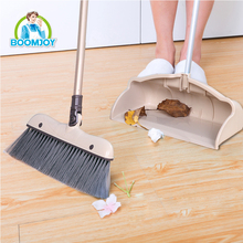 HOUSEHOLD PLASTIC BROOM AND DUSTPAN SET WITH ALUMINIUM BROOM HANDLE