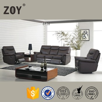 Genuine Leather 5 Seater Recliner Sofa Set Furniture Arm Covers Zoy-81360