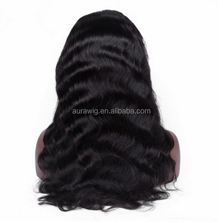 Natural Looking Good Quality Customized Wigs Virgin Remy Indian Human Hair Wave Unprocessed Lace Front Wis For Women