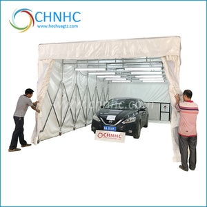 2019 PVC corver Automatic Retractable spray booth Folding paint booth Tent Car Parking Cover