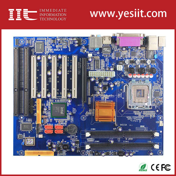 pci-e network card IMI945GV-2ISA wtih two ISA slot motherboarduse 945gv support LGA775 CPU atx motherboard with cpu