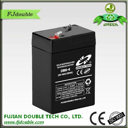 3 fm 4 ups battery, rechargeable 6v 4ah battery