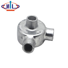 20MM Galvanized Malleable Iron Tee Back Outlet Waterproof Metal Box