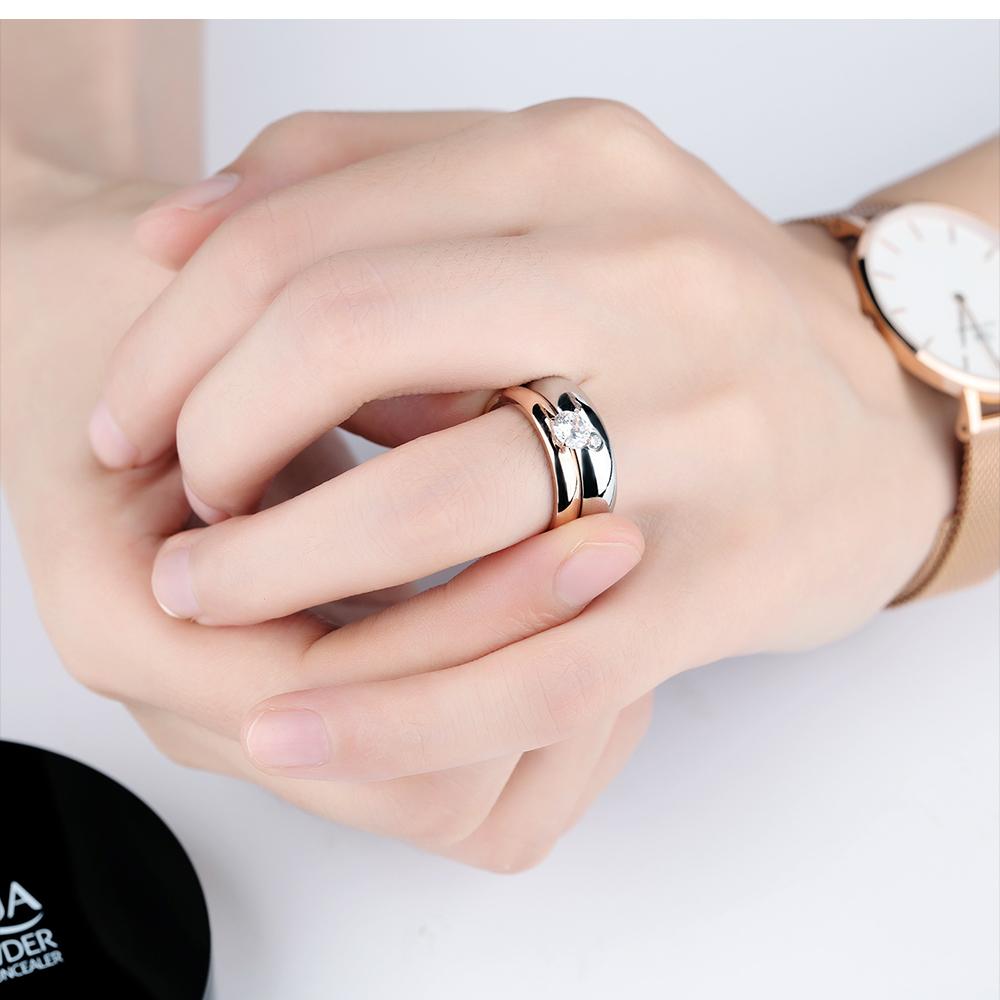 New 2018 Vogue Jewelry Couple Diamond Simple Wedding Design Rings ...
