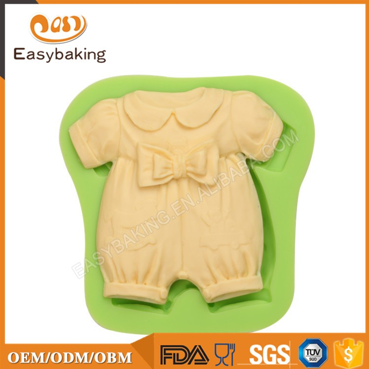 ES-1108 Baby Dress with Bow Silicone Molds