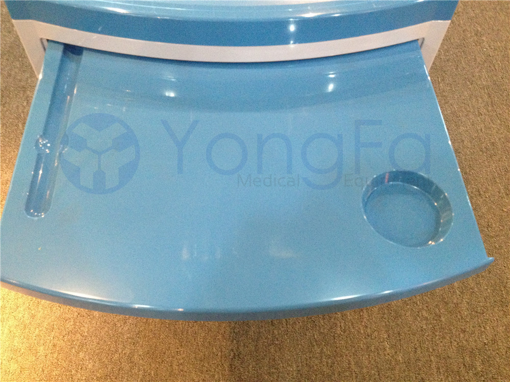 YFZ018 Medical Cabinet Hospital Bed Table With Drawer