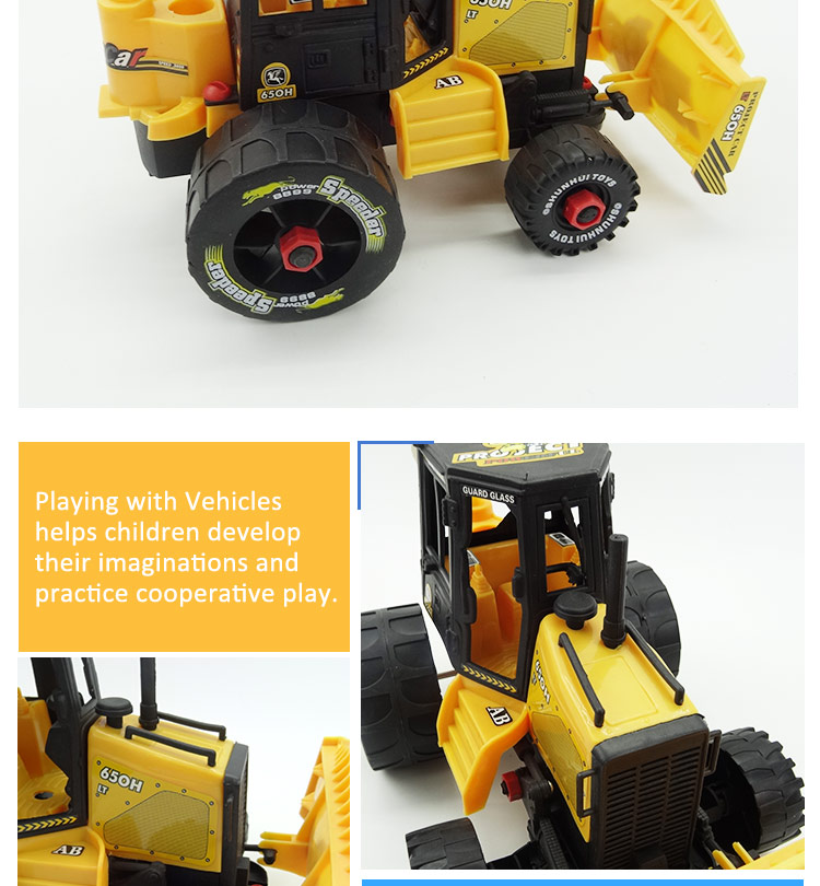 Hot selling kids big size farmer plastic truck toy car for sale