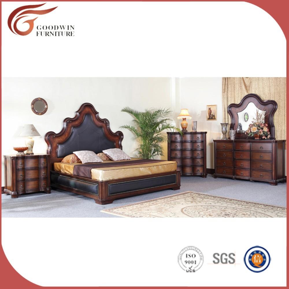 100% talladas a mano de madera sólida muebles para el dormitorio ...
