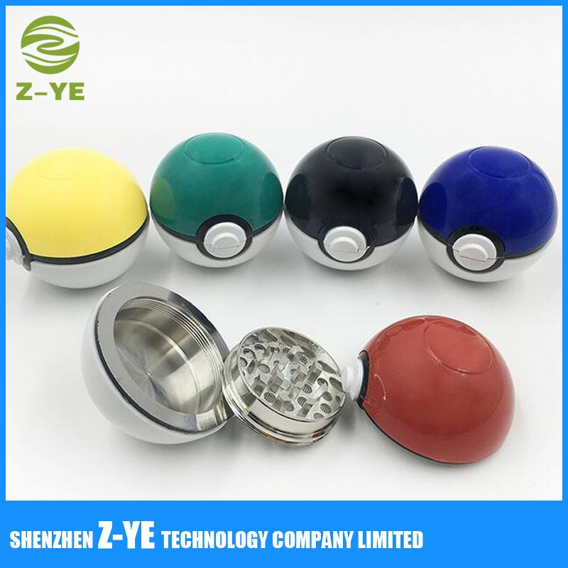 Pokemon Pokeball 55mm grinder NEW style Tobacco Spice Herb 3 Piece Sharp Teeth