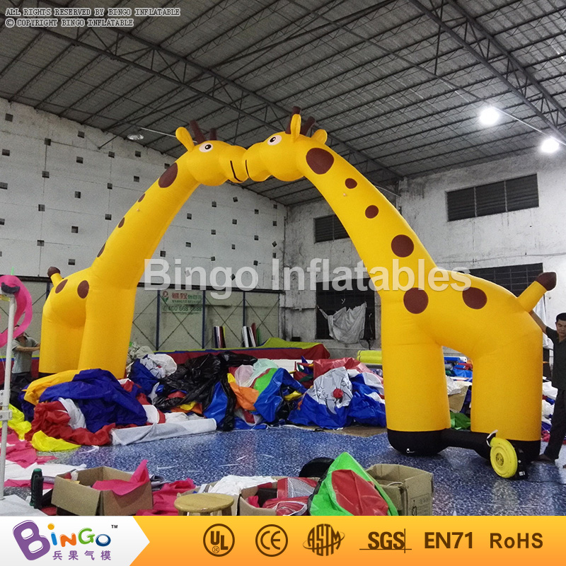 deer inflatable entrance arch for amusement park/zoo arch gate door