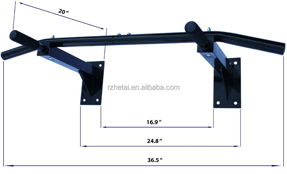 Heavy duty gauge steel body workout door frame horizontal for Door frame pull up bar