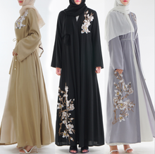 2019 nuovo stile del ricamo manica lunga <span class=keywords><strong>abaya</strong></span> islamico per le donne
