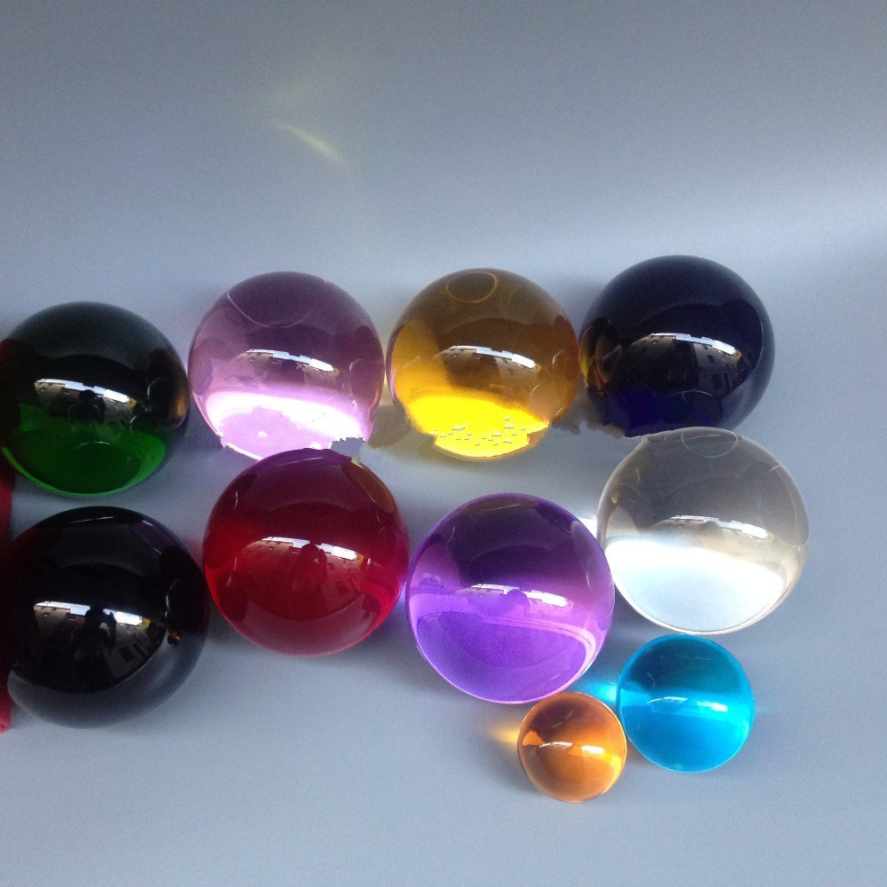 Factory derect clear colored glass balls for sale