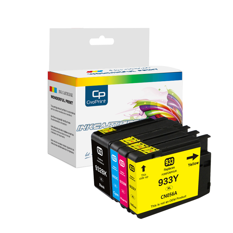China premium 932 933 ink cartridge compatible Officejet Pro 6100 6600 6700