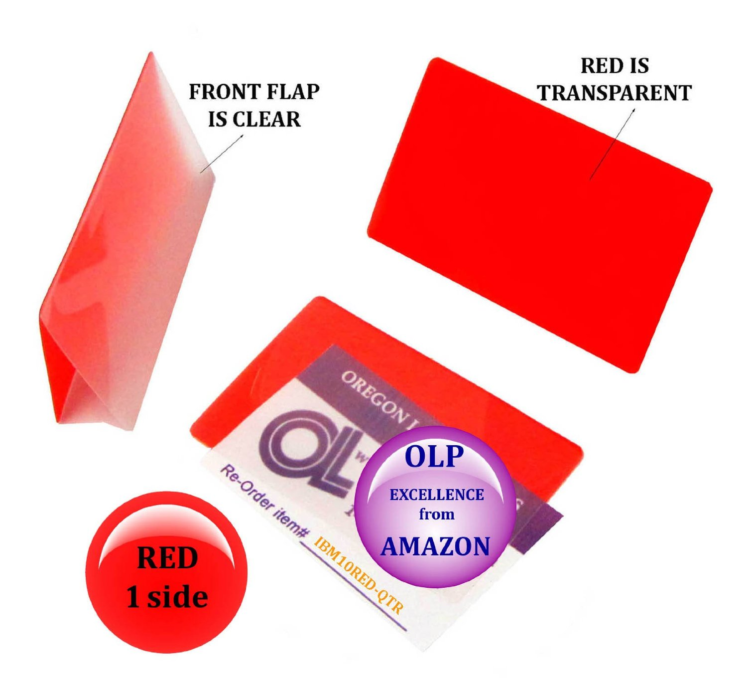 Red/Clear IBM Card Laminating Pouches 2-5/16 x 3-1/4 Qty 25