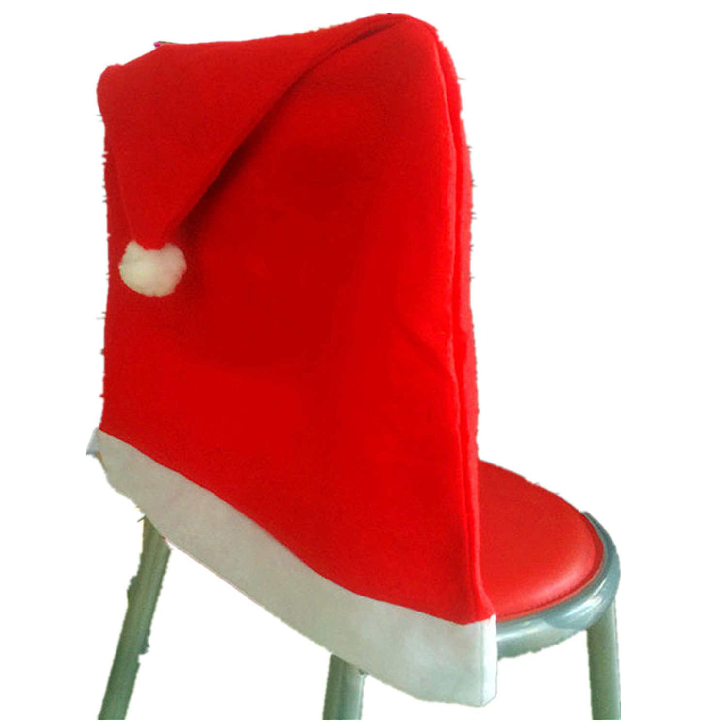 Get Quotations Tiean Chair Cover Christmas Decor Dinner For Xmas And Santa Hat Sets Red