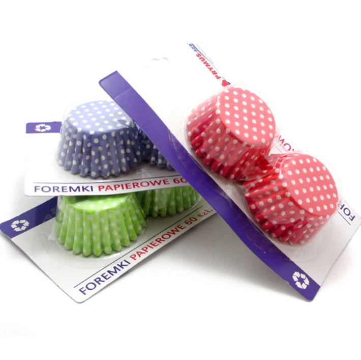 """Hot red and white polka dot 4.5"""" round paper cup cake wrappers"""
