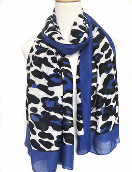 New leopard print fashion ladies' shawl scarf oblong polyester scarf with fringe