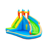Airmyfun pvc custom best design wholesale bounce house with slide blower for kids