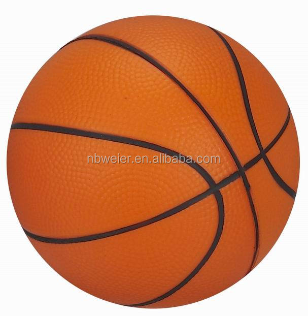 3 inches PU foam anti stress basketball for sports/toys/promotion/gifts/sale