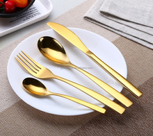 2017 hot sale gold cutlery set,rose gold stainless steel cutlery set with customized logo