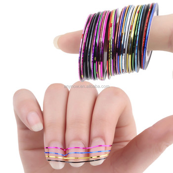 Oem Nail Art Stencil Sticker Strips Self Adhesive Striping Tape